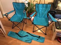Excellent Pair of Folding Camping Chairs