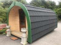 Glamping pod beauty room man shed