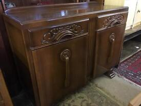 Lovely vintage sideboard ~ attractive carved detail excellent condition