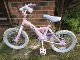 GIRLS PINK DISNEY PRINCESS BIKE 16 INCH WHEELS