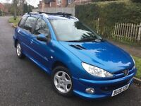 Peugeot 206 SW 1.4i Verve estate – low miles & FULL MOT !