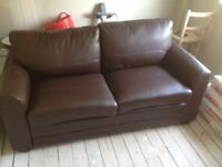 Free Double leather sofa bed