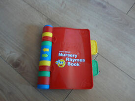 VTECH Electronic Nursery Rhymes Book - PERFECT CONDITION - lots of fun! FULLY WORKING +new batteries