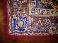 large vintage rug carpet blue red tan eastern Indian Turkish oriental Moroccan Persian style 240x160