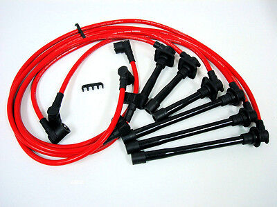 VMS FORD PROBE GT V6 ENGINE 2.5 10.2MM RACING IGNITION SPARK PLUG WIRES SET RED - Ford Probe Gt Engine