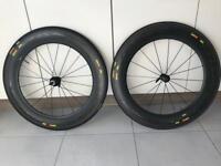 Mavic Cosmic CXR80 full Carbon tubular wheels