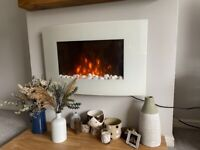 Wall Mounted Electric Fireplace Lausanne 2000W