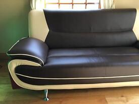 2 seater leather sofa(SOLD)