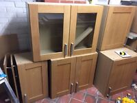 Kitchen units and wall cupboards