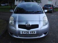 Toyota Yaris T3, 2006, 1.3 litre petrol, 5 door, silver - GOOD CONDITION