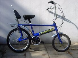 Chopper By Raleigh, Blue, A True British Classic,Totally Pimped !! JUST SERVICED/ CHEAP PRICE!!!!!!!