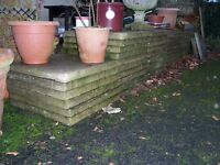 "Paving slabs 2 x 2 ft. 2"" thick - 30 available"