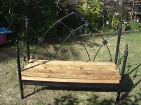 up cycled garden bench