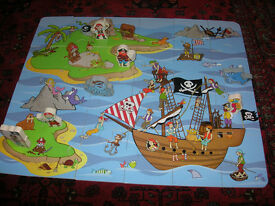 wooden toy - Pirate puzzle - 3D