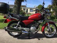 Yamaha YBR125 Custom for sale. Low mileage.