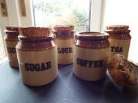 Kitchen rustic storage jars