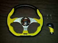 Momo steering wheel and gear knob