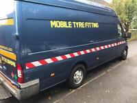 Mobile tyre fitting van ford transit tyre business diesel