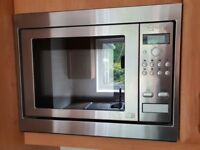 Built in Neff stainless steel microwave 900watt