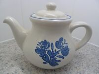 LARGE GREY/BLUE TEAPOT IN PERFECT CONDITION-unused