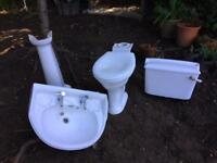 Armitage Shanks toilet and sink (free corner bath)