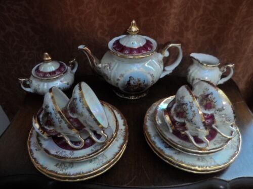 VTG ROYAL JAPAN Porcelain TEA SET for 4 Persons  Victorian Couple Madonna