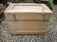 "Heavy Duty Timber Storage Box.14"" high,21"" x 12"" Top."