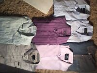 7 shirts, 4 t-shirts, 1 long sleeve top, 2 hats, 1 scarf, 11 jumpers, 3 jeans, 6 jackets & 1 blazer