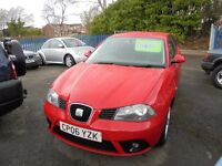 SEAT IBIZA 1390cc SPORT 3 DOOR HATCH 2006-06, RED, LOOK ONLY 65K FROM NEW