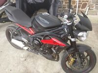 66 plate Triumph Street Triple R in matt black, FSH, gorgeous bike, as you would expect for age