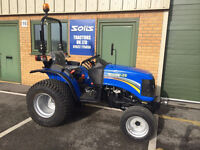 NEW SOLIS 26 4WD COMPACT TRACTOR TURF TYRES ideal for flail grass mower