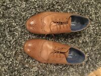 Size 6 boys leather shoes, only worn once for a wedding