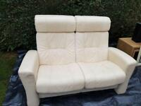 Leather 2 seat recliner sofa chair