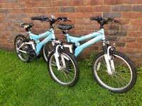 Girls silver fox mountain bike 20inch wheels