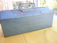 Metal Tool Box filled with Used Hand Tools