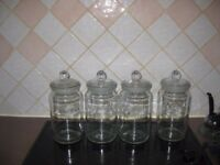 Storage Jars glass 2litre set of four