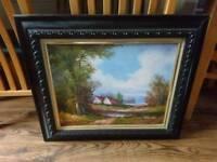 Medium framed painting