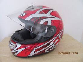 Gents (Box) crash helmet for sale, size medium 580, very little use.