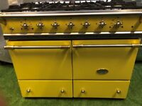 Stunning lacanche Cluny range cooker double oven yellow and brass appliance INC VAT