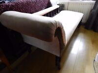 EDWARDIAN CHAISE LOUNGE HAVING ALLOVER PINK UPHOLSTERY