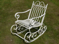 Vintage Style Iron Garden Rocking Chair