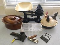 Vintage kitchen ware items (job lot)