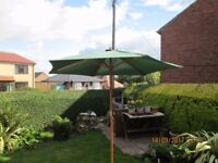 garden unbrella wood frame canvas canopy 2.7 meters diameter