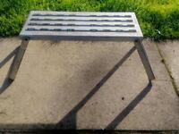 Metal folding caravan step