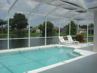 Bradenton Florida Gulf Coast, Emerald Retreat, 4 bedroom three bathroom lakeside villa,