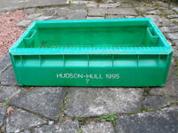 Unusual Green Coloured Fish Box Ideal Planter or Storage Found While Beachcombing