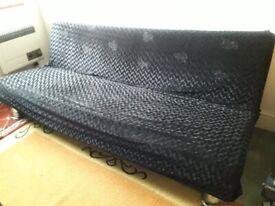 Used black sofa bed