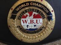 WBU WORLD TITLE BOXING BELT