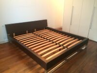 Beautiful Super King Size Bed and Leather Double Bed, Mattresses Included