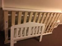 White Mothercare toddler bed excellent condition